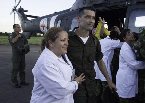 Frigivning av fångar i Colombia, april 2012