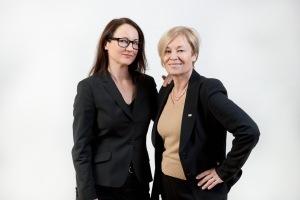 Ulrika Årehed Kågström, generalsekreterare för Svenska Röda Korset, och Eva von Oelreich, ordförande för Svenska Röda Korset